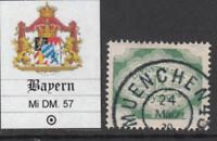 GERMANY  - BAYERN Mi DM 57 used