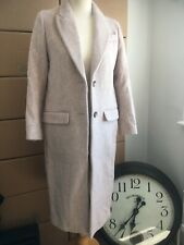 Ladies Long Sleeved Winter Coat Size: 4 - Brushed Pink by H&M Woman