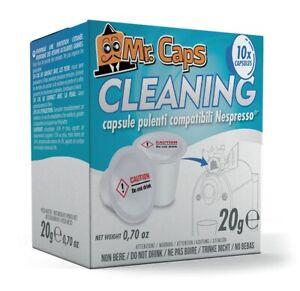 10 Kapseln, Reinigungskapseln, Entkalker, Cleaning Caps für Nespresso® - Mr.Caps