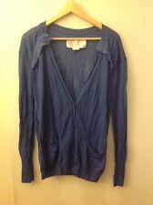 Hanii Y Lighweight Blue Cardigan Sweater, Size Large