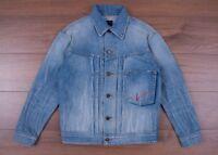 SAINT LAURENT PARIS 1490$ Oversized Loulou Embroidery Jacket In Faded Blue Denim