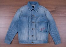 SAINT LAURENT PARIS 1490$ Oversized Loulou Embroidery Jacket In Faded Blue Denim