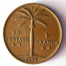 1955 DOMINICAN REPUBLIC CENTAVO - AU - High Grade Coin - Lot #O26
