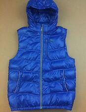PUMA Royal Blue Full-Zip Puffer Down Jacket Vest Men's XL Light Hooded