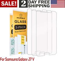 Samsung Galaxy J7V J7 V 2017 Version ONLY Tempered Glass Screen Protector 3 PC