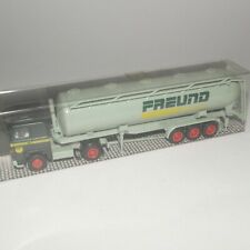 """Albedo 1:87 111105 Scania 111 Kippsilo-Sattellzug """" Freund """" OVP(EK4378)"""
