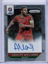 2016 PANINI PRIZM UEFA EURO SOCCER ASHLEY WILLIAMS S-AW SIGNATURE AUTO WALES