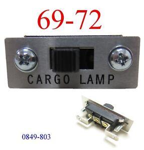 69 72 Chevy Cargo Lamp Switch, Light Switch, Interior, GMC Truck