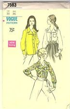 Vogue Sewing Pattern 7583, Vintage Blouse, Size 14, Uncut
