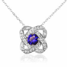 Sterling Silver Natural Sapphire Fine Necklaces & Pendants
