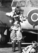 WWII Photo Female Pilot British Auxiliary Air Force RAF WW2 B&W World War / 1315