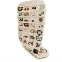 Fashion White Hanging Jewelry Bag Closet Display Organizer Holder Storage Pocket
