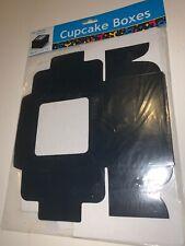 Cardboard Black Cupcake Boxes (pack of 6)