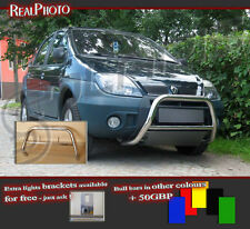 RENAULT SCENIC RX4 00-03 LOW BULL BAR WITHOUT AXLE BARS +GRATIS! STAINLESS STEEL