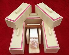 5 Wooden Wood Soap Molds with Liners and 1 Soap Loaf Cutter Box Combo set