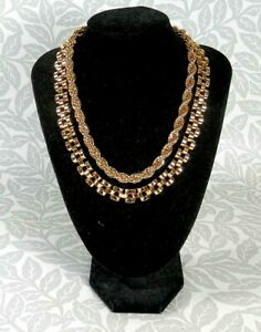 Set of 2 ORELIA Gold Tone Chunky Chain Necklaces
