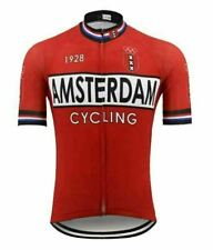 Amsterdam Red Short Sleeve Cycling Jersey Free Shipping