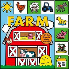 Lift-the-Flap Tab: Farm (Lift-the-Flap Tab Books) by Roger Priddy