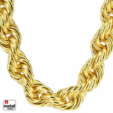 Men's Rapper Hip Hop 14K Gold Plated Hollow Chunky Rope Chain Necklace 16mm 30""