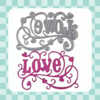 Metal Cutting Die - LOVE - HEART - Valentine - Template - Embossing - Crafting