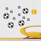 12Pcs Football Soccer Wall Stickers Wall Decal Nursery Boys Bedroom Deco THFUK