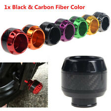 1x Black&Carbon Fiber Motorcycle  Bike Front Fork Frame Sliders Crash Protection