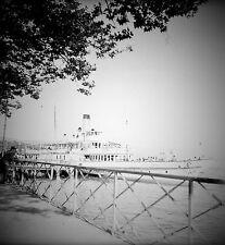 SUISSE c. 1949 - Bateau à Vapeur  Embarcadère  Ouchy - Négatif 6 x 6 - Sui 208