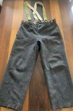 Antique Vintage Woolrich Wool Pants w/ 1920s Police Brace Men's Hunting Trouser