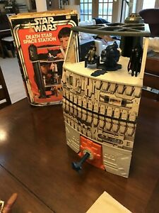 Original Vintage Star Wars 1978 Death Star with Box and Action Figure Bundle
