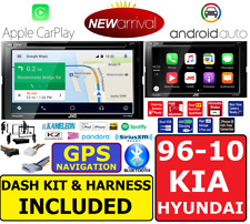 JVC CD/DVD BLUETOOTH GPS NAVIGATION SYSTEM APPLE CARPLAY ANDROID AUTO CAR RADIO