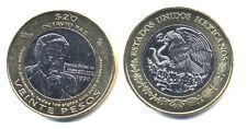 Mexico 20 Pesos 2010, Bi-Metallic  KM New UNC Coin Uncirculated