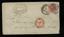 Great Britain 61 pl 15 on cover to Us 1874 Mm0128