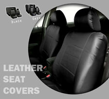 PU Leather Full Set Seat Covers Non split Bench + 2 Bucket Covers BLACK