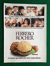PY93 Pubblicità Advertising Clipping 24x18 cm (1983) FERRERO ROCHER