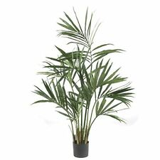 Decorative Natural Looking Artificial 5' Potted Kentia Silk Palm Tree Plants