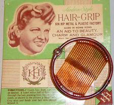 "VINTAGE 18 cm Anello GRIP ""uno stile moderno hair-grip aiuto alla bellezza charm and Glamour"""