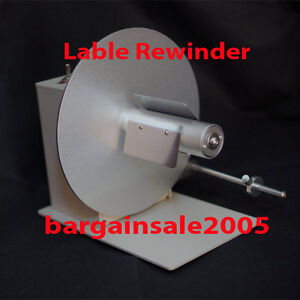 Label rewinder unwinder reversible adjustable speed labelling rewind unwind 938
