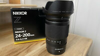 Nearly new Nikon Z 24-200mm f4-6.3 VR lens boxed UK - 3 weeks old!