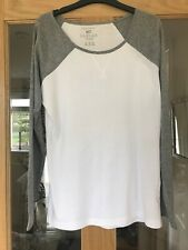 Atmosphere Grey And White Long Sleeved Tee Shirt Size 10