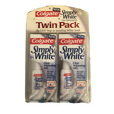 Colgate Simply White Clear Whitening Gel ,.34 Fl (10mL) Twin Pack NOS NEW