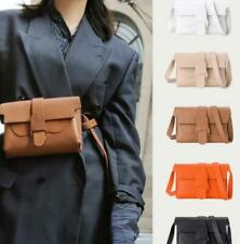 Women Multiple Ways Convertible Belt Bag Genuine Leather Sling Crossbody Purse