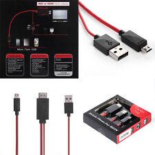 Cable adaptador línea de datos MHL Micro USB a HDMI HDTV para Teléfono Móvil
