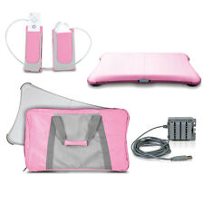 NEW Pink Wii 4 FIT Workout Kit - AC Power, Gel Cover, Travel Bag, Holster