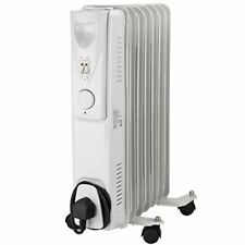 1500W Adjustable Oil Filled Radiator Thermostat Portable Electric Heater Slim