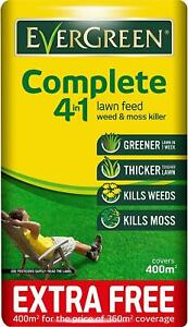 EverGreen 400sqm Complete 4 in 1 Lawn Care Lawn Food Weed & Moss Killer Bag