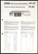 SABA MI 380 Original Amplifier Service-Instruction/Anleitung/Schaltplan o54