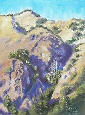 Mountains from Nacimiento Road Big Sur California Oil Painting by Cerise Johnson