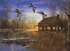 "Jim Hansel ""Passing Through Duck Cabin Print 21.5"" x 13.5"""