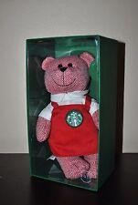 New Starbucks 2016 RED HOLIDAY APRON Bearista GIRL Teddy Bear Barista Xmas Ltd