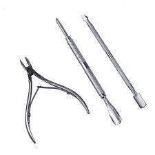 Tascabile taglia spingi cuticole tagliacuticole da 3 pz ricostruzione unghie HK